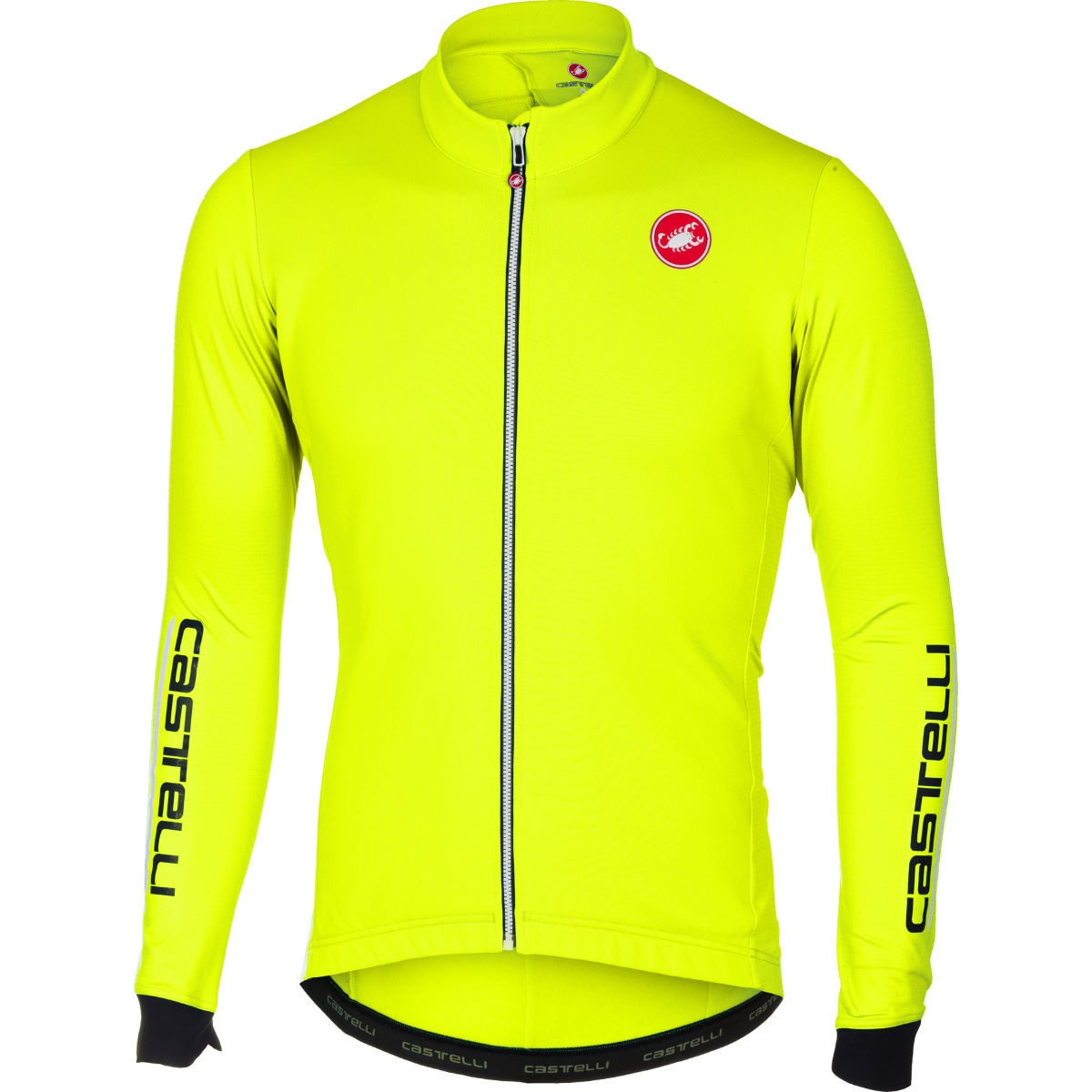 Maillot Castelli Puro 2 (manches longues) - M Yellow Fluo