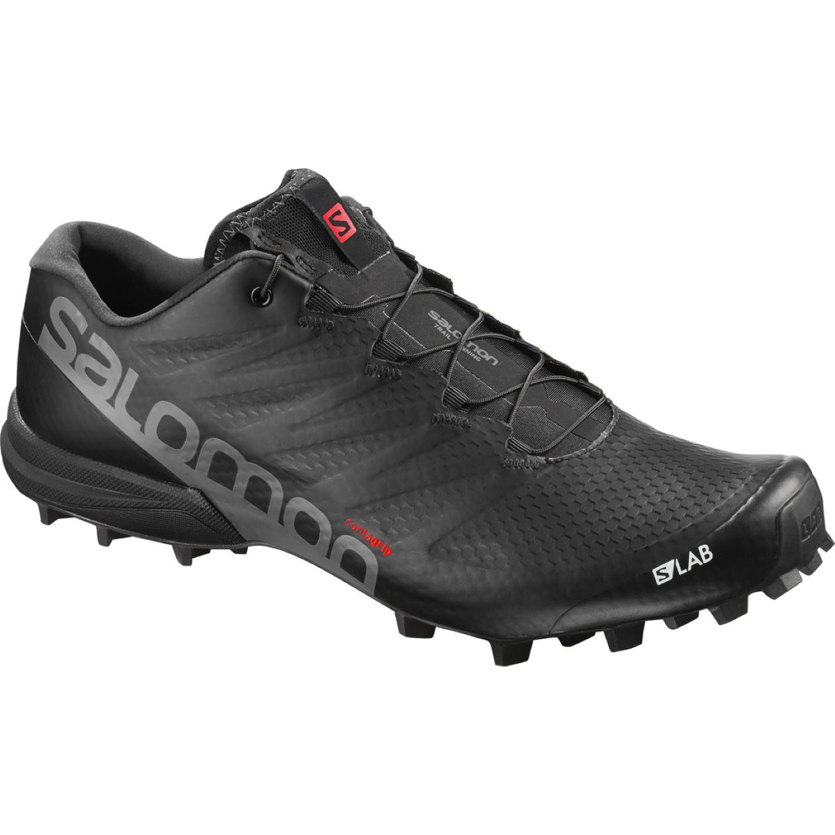 Chaussures Salomon S-Lab Speed 2 - UK 7 Black/Racing Red/ Wh