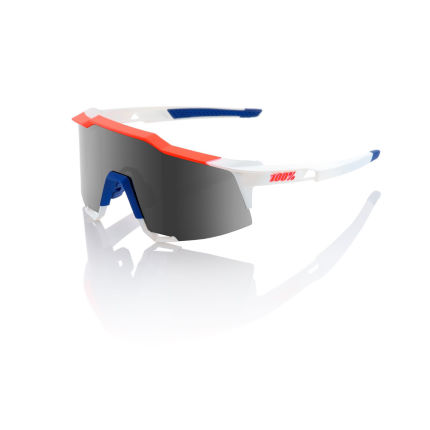 100% Speedcraft Sonnenbrille (HD Red Multilayer Gläser, verspiegelt, SL-Modell)