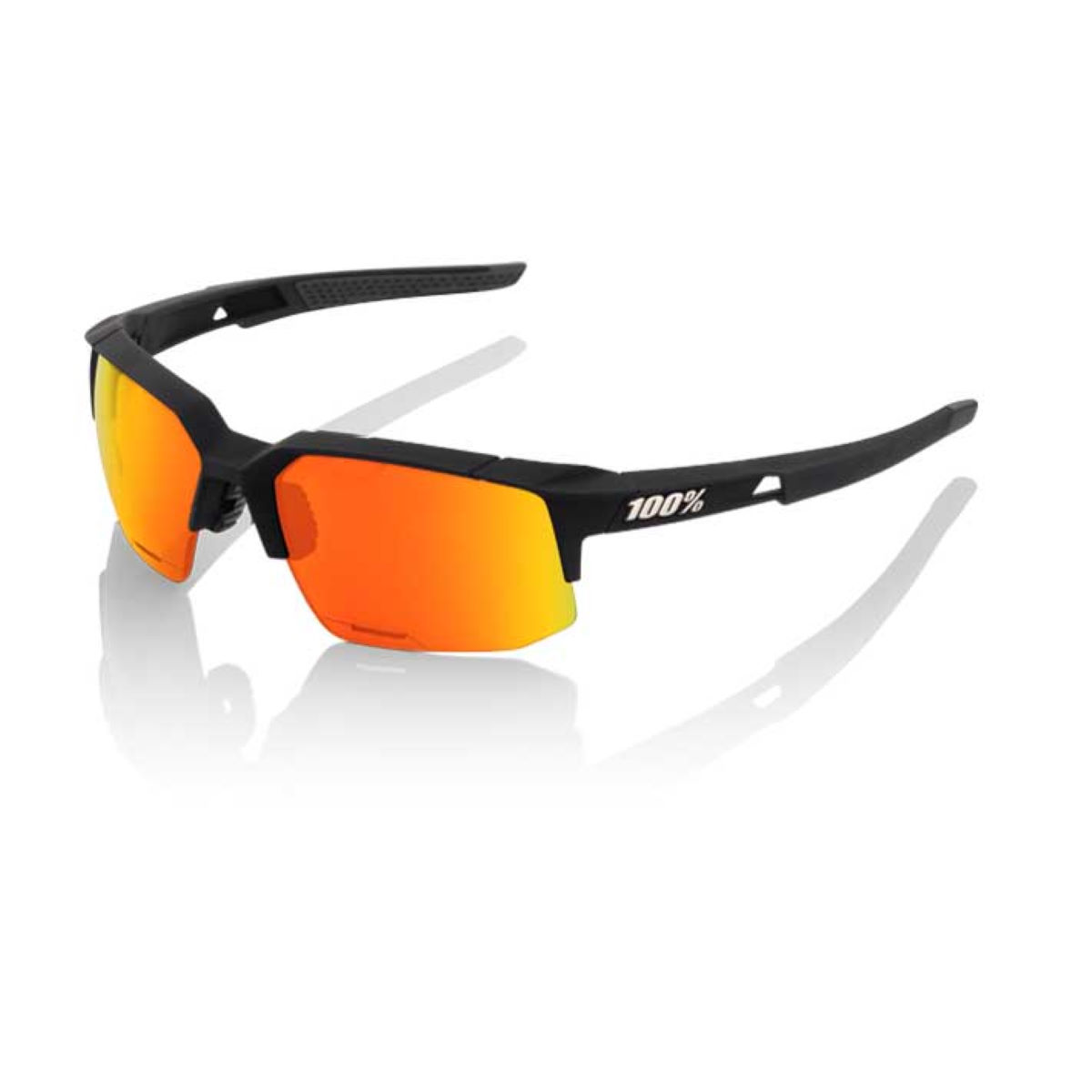 Gafas de sol 100% Speedcoupe (lente HD Red Multilayer Mirror, negro) - Gafas de sol