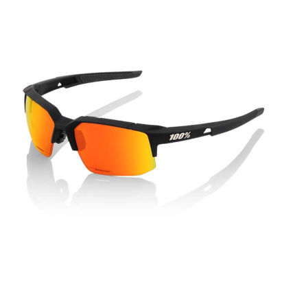 100% Speedcoupe Sonnenbrille (HD Red Multilayer Gläser, verspiegelt)