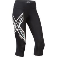 2XU Womens Ice X Mid-Rise Compression 3/4 Tights