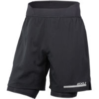 Pantaloncini 2XU Run (2 in 1, a compressione, 18cm ca.)