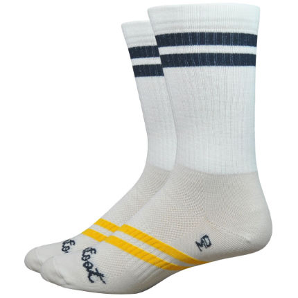 DeFeet Classico Strawfoot Handmade Ballpark Stripe Socken (15 cm)