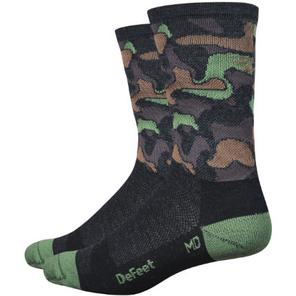 "DeFeet Wooleator 6"" Camo Socks"
