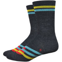 "DeFeet Wooleator 5"" Strawfoot Handmade Summer Stripe Sock"