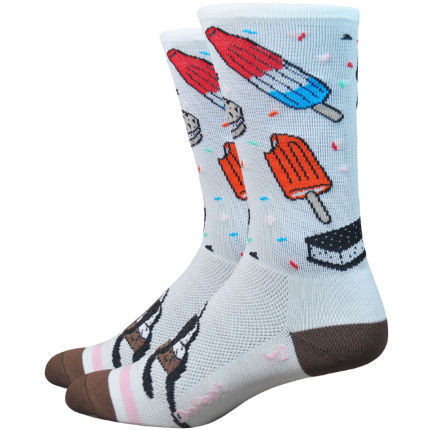 Calcetines DeFeet Aireator iSCREAM (caña de 15,2 cm)