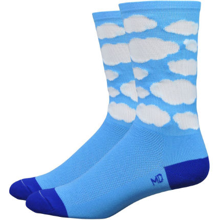 DeFeet Aireator Ten Speed Hero Montana Blue Cloud Radsocken (15 cm)