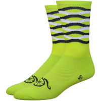 "DeFeet Aireator 6"" Handlebar Moustache Frequency Socks"