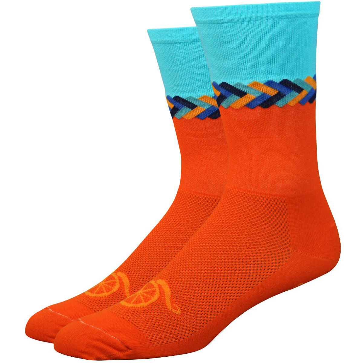 Chaussettes DeFeet Aireator Handlebar MoustacheTwisted (15 cm environ)