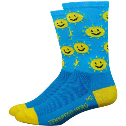 "DeFeet Aireator 6"" Ten Speed Hero Sunshine Socks"