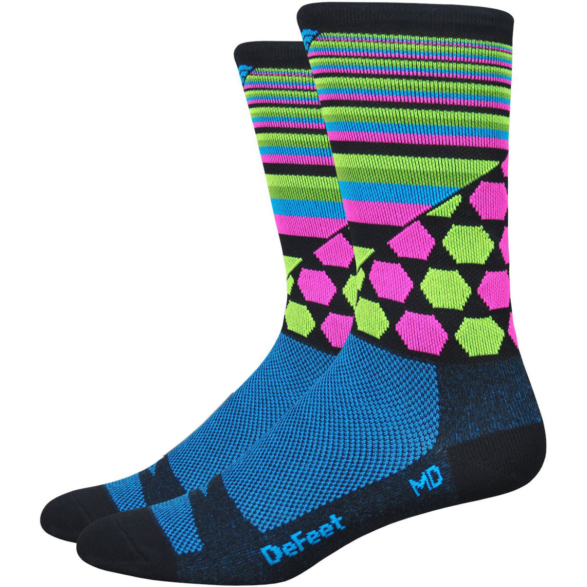 Chaussettes DeFeet Aireator Cosmic (15 cm environ) - M Cosmic