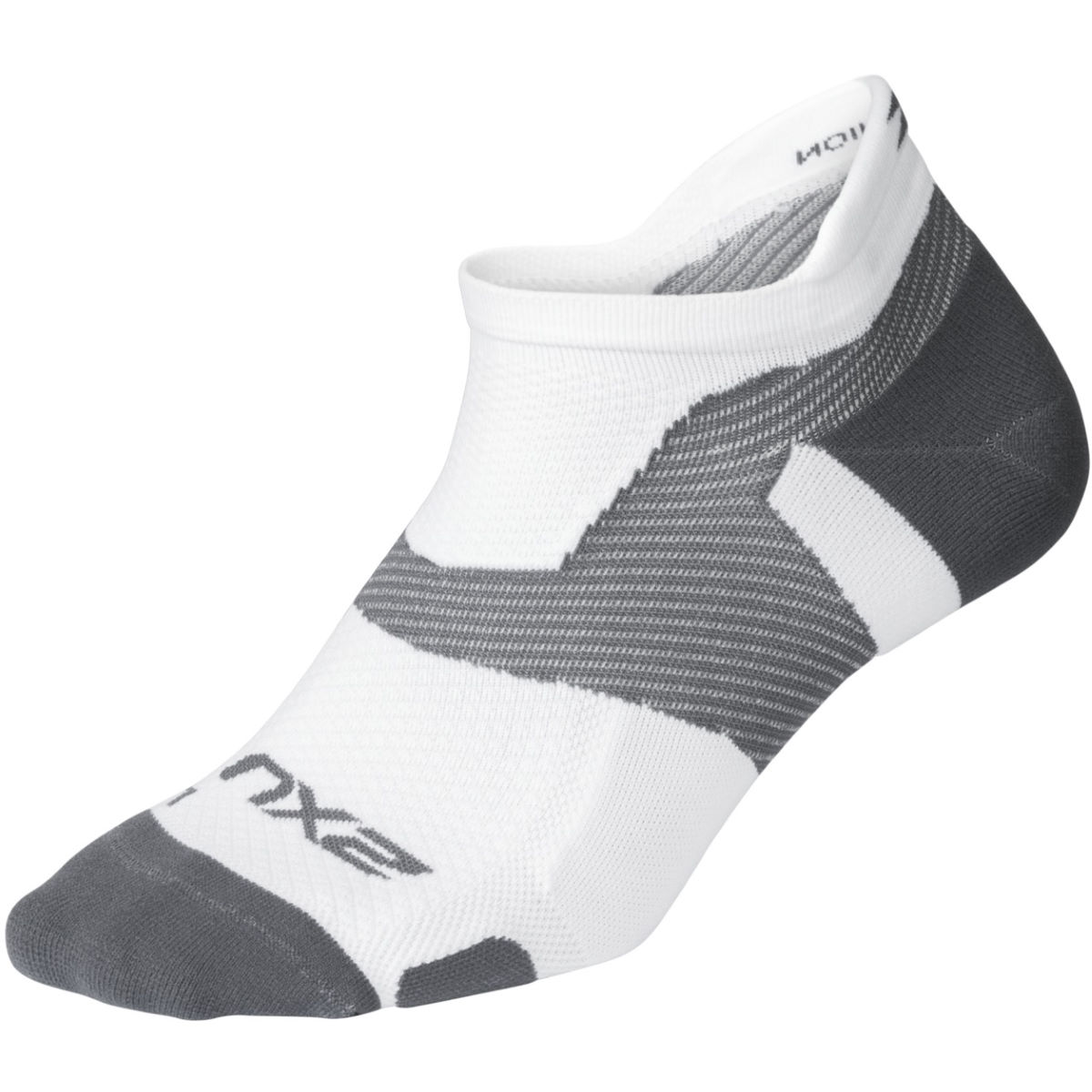 Chaussettes 2XU Vectr Light Cushion No Show (blanches) - S