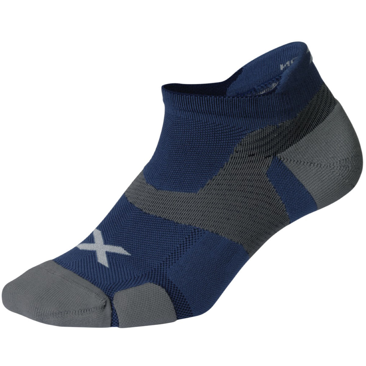 Chaussettes 2XU Vectr Cushion No Show - S Blue Steel/Grey