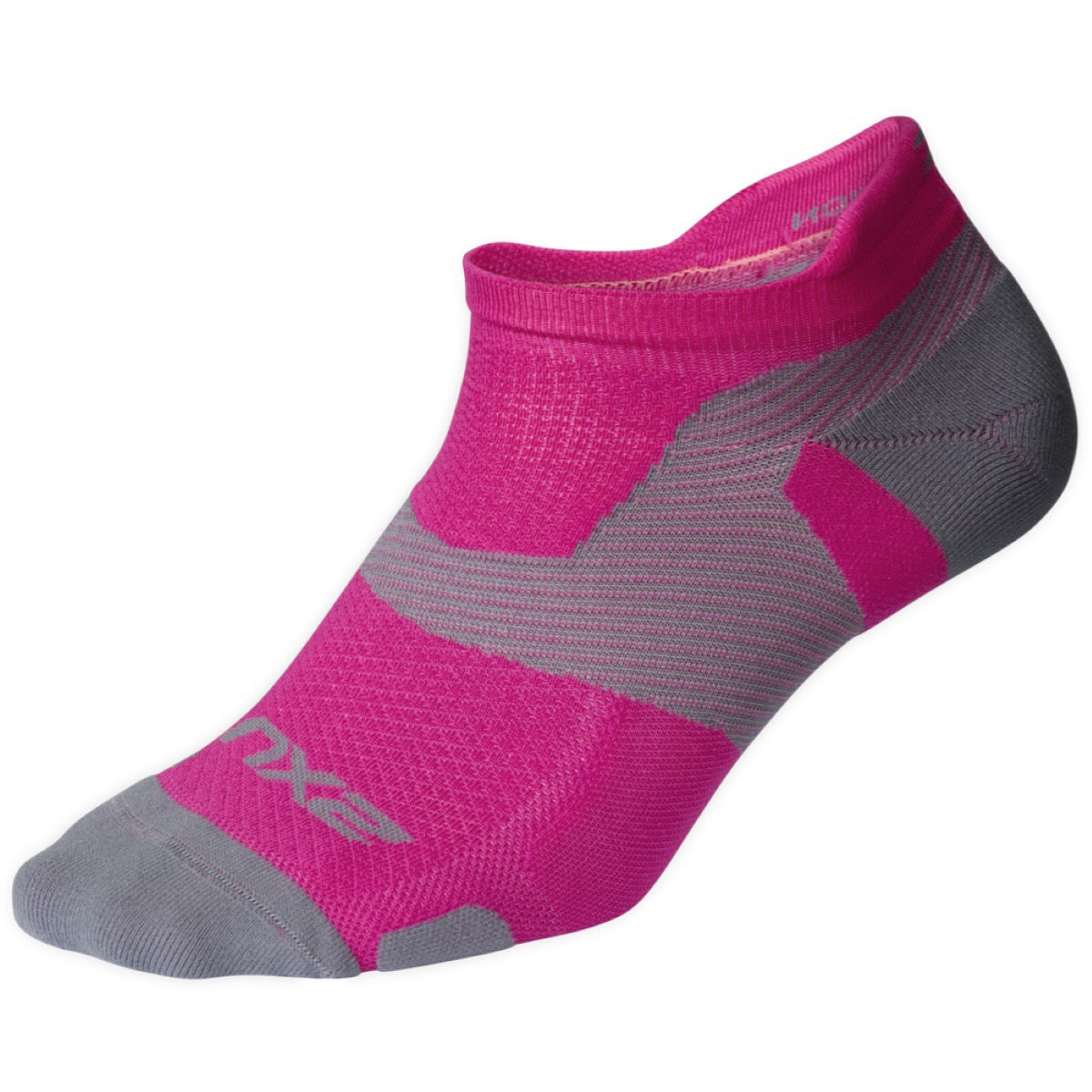 Chaussettes 2XU Vectr Light Cushion No Show (roses) - M Chaussettes