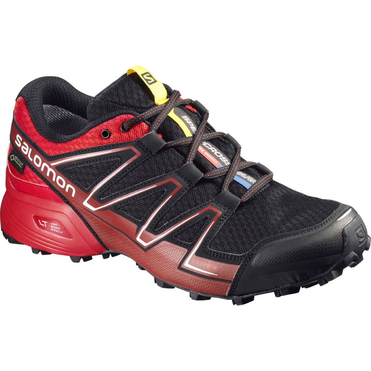 Salomon Speedcross Vario GTX Shoes - UK 10 Black/Radiant Red/br Chaussures de running trail