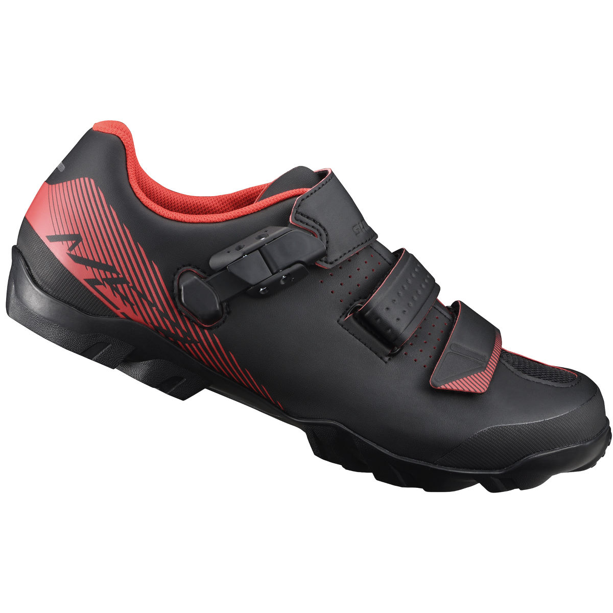 Chaussures VTT Shimano ME3 SPD (coupe large) - 51 Noir/Orange
