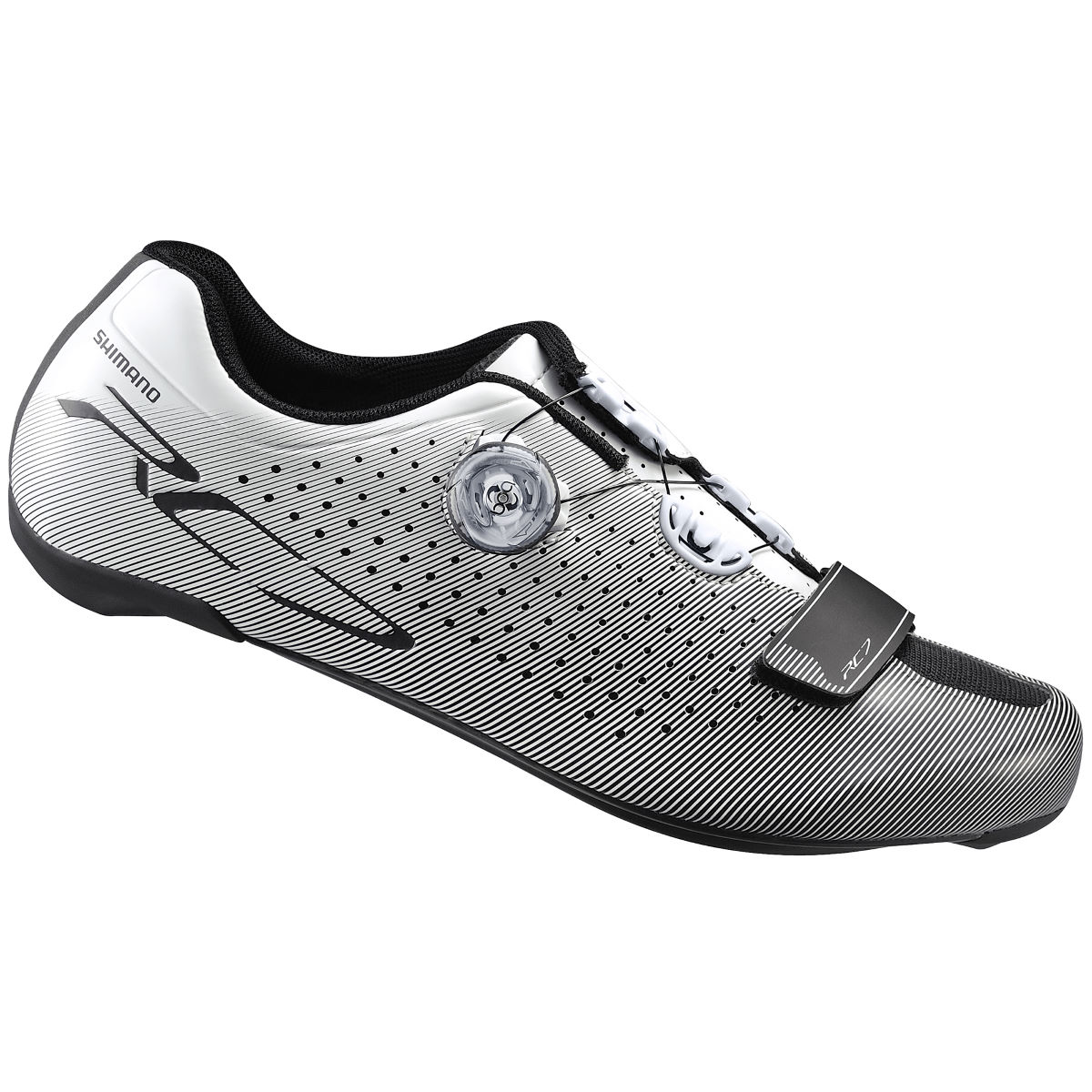 Chaussures Shimano RC7 Race (coupe large) - 49 Blanc