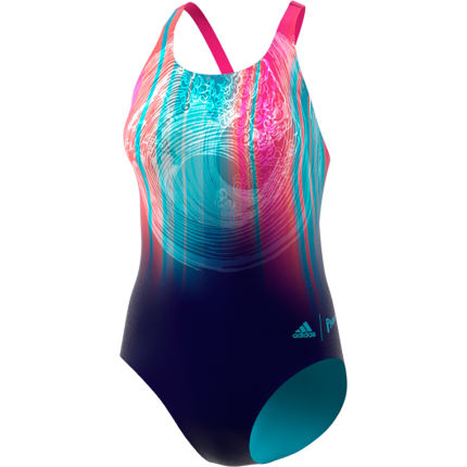 Adidas Women's Parley Placement Graphic Swimsuit