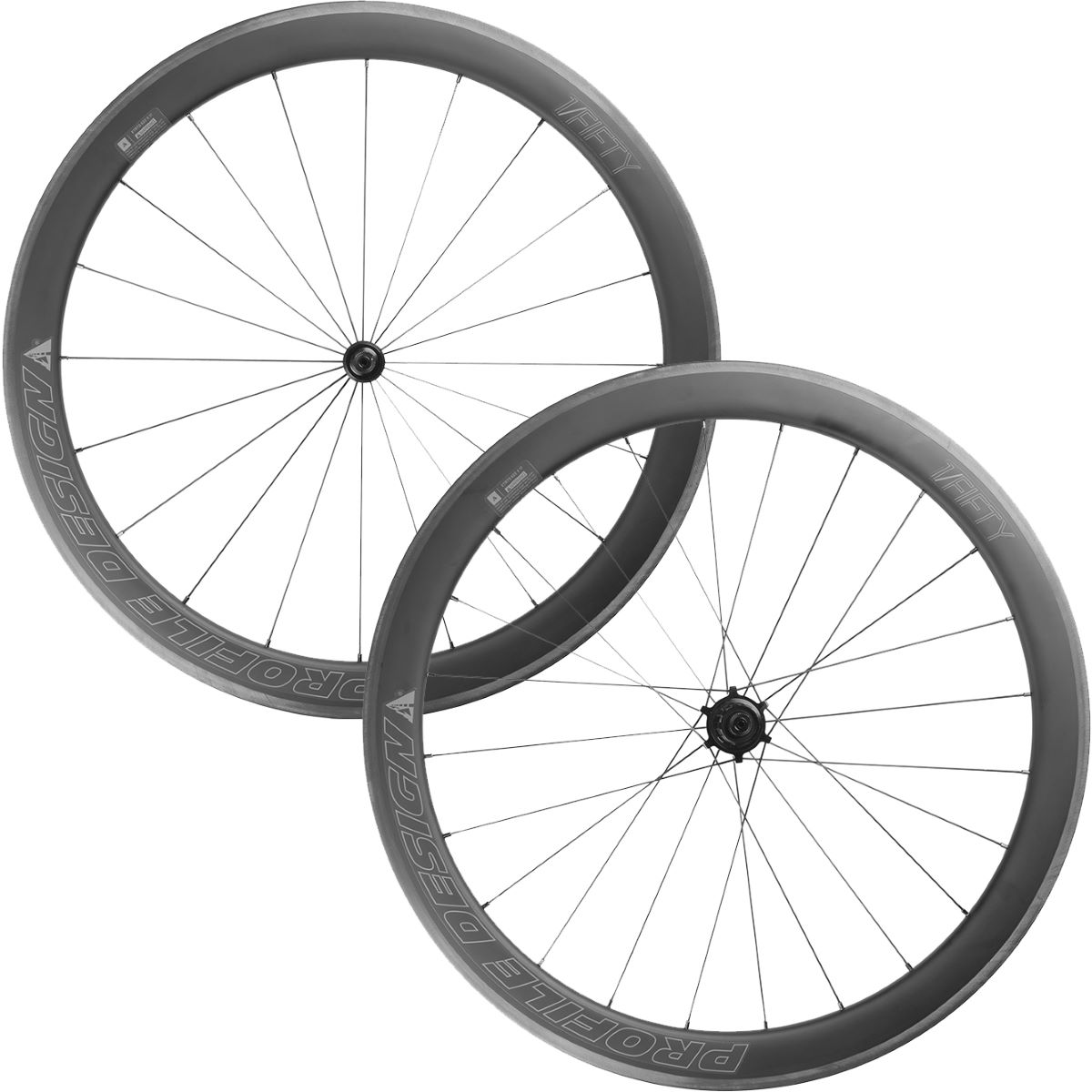 Profile Design 1 / Fifty Full Carbon Clincher Wheelset - 700c Shimano/SRAM Noir Roues performance