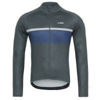 dhb Classic Thermal Long Sleeve Jersey - Stripe Marl