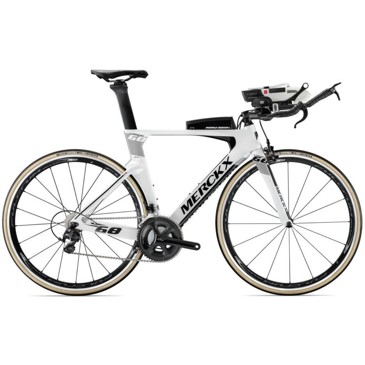 Vélo de contre-la-montre Eddy Merckx Lugano 68 (105, 2018) - XL Stock Bike White/Black/Anthraci Vélos de contre-la-montre