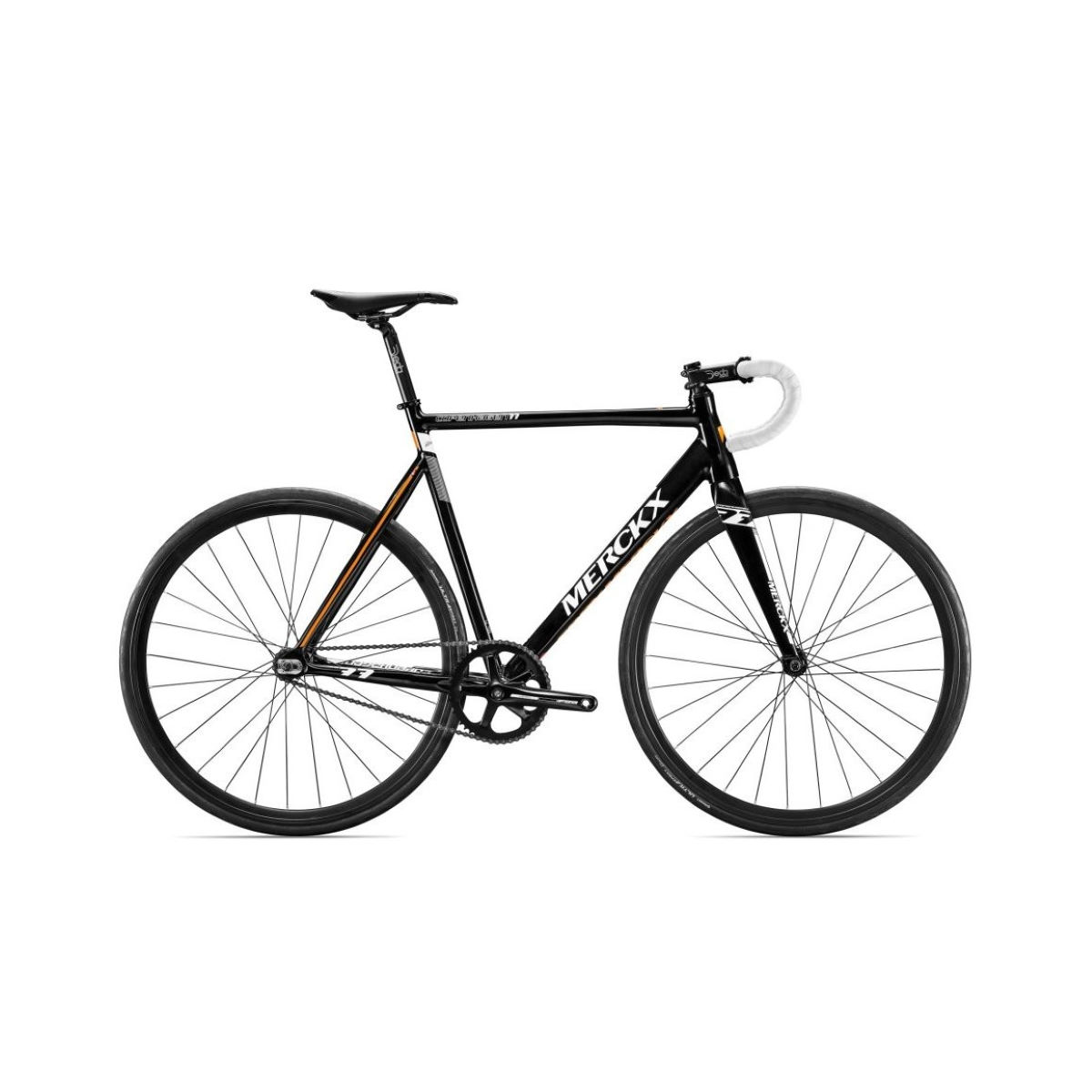 Vélo de piste Eddy Merckx Copenhagen 77 (2017) - XS Stock Bike Black/White/Orange Vélos de piste