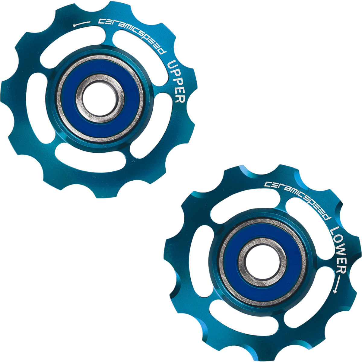 CeramicSpeed 11 Speed Pulley Wheels in Limited Edition Blue - Cambios traseros
