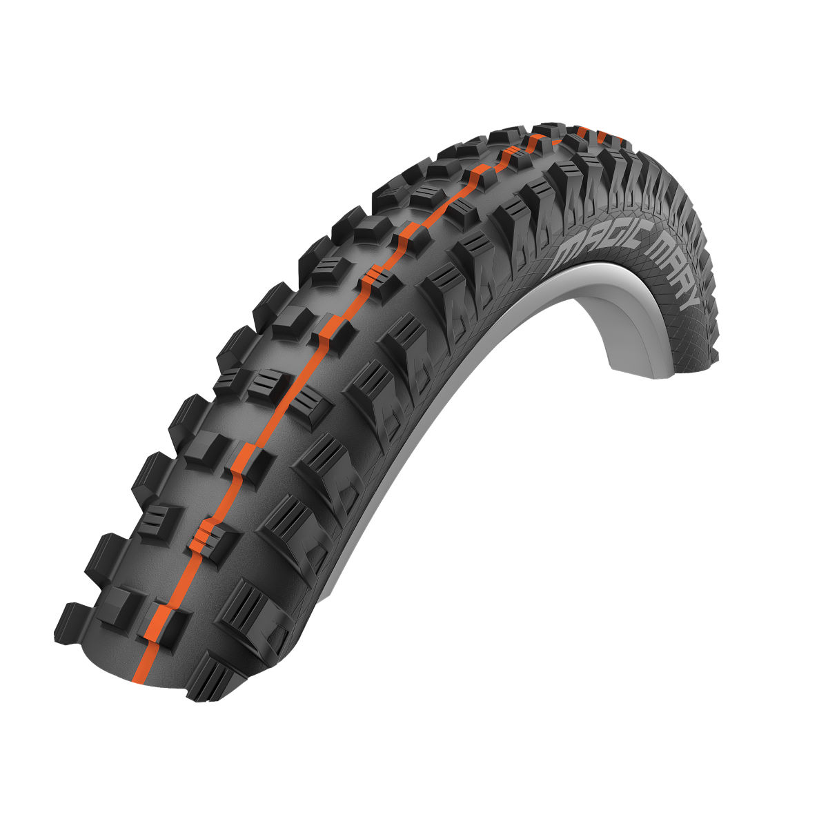 Pneu VTT Schwalbe Magic Mary Addix SnakeSkin (souple) - Black - Orange