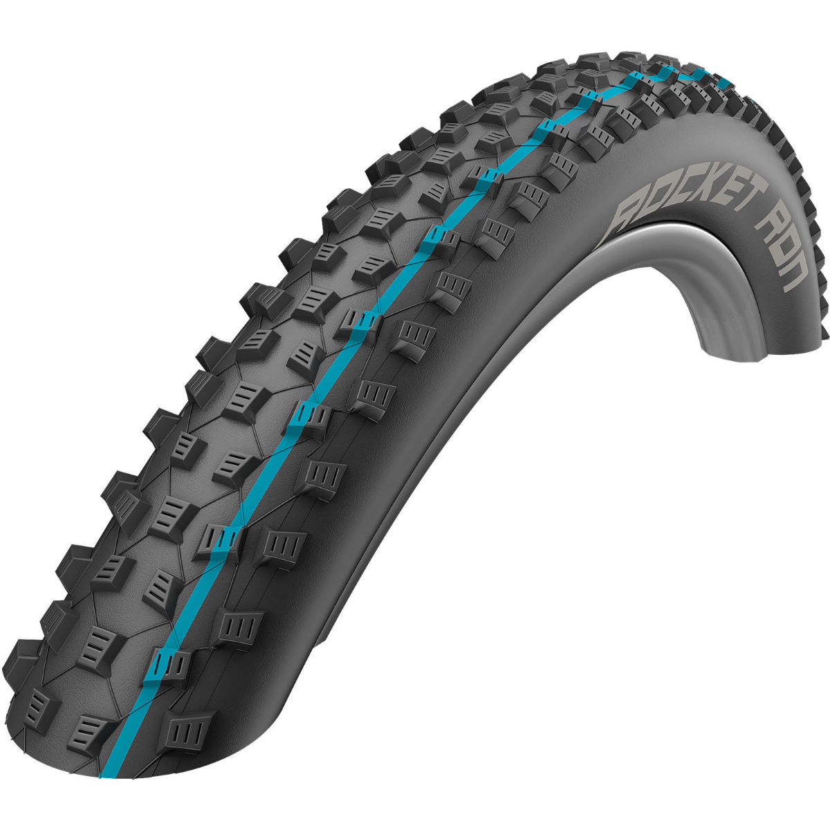 Schwalbe Rocket Ron Addix SnakeSkin Folding MTB Tyre - 2.25' 29' Black / Blue Pneus VTT