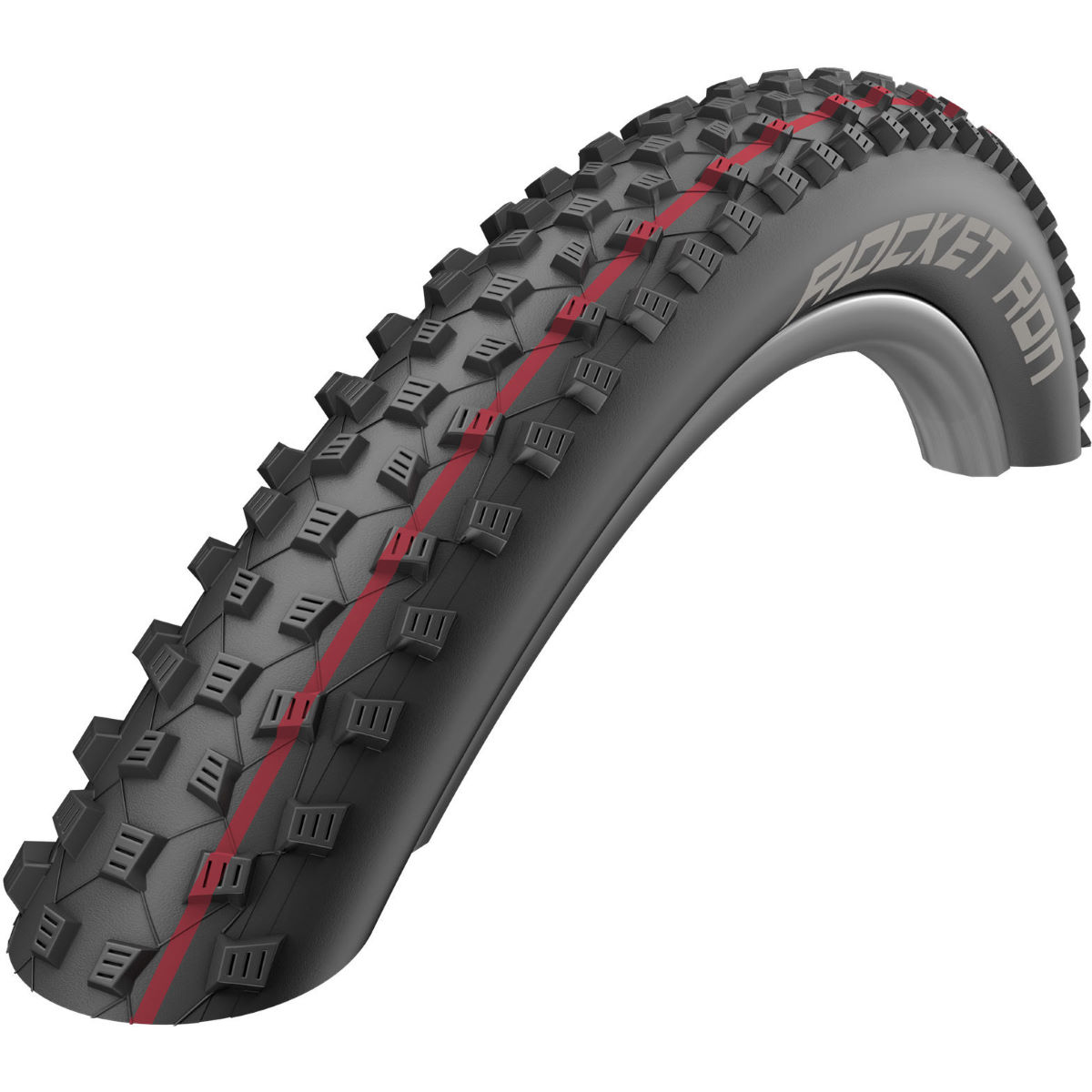 Schwalbe Rocket Ron Addix SnakeSkin Folding MTB Tyre - 2.1' 29' Black / Red Pneus VTT