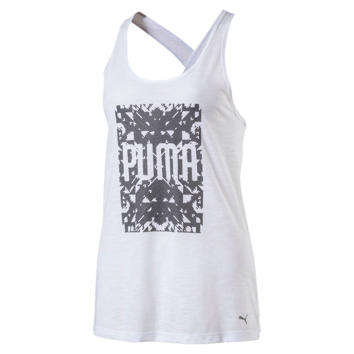 Puma Women's Essential Dri Release Gym Tank - L Puma White Heather
