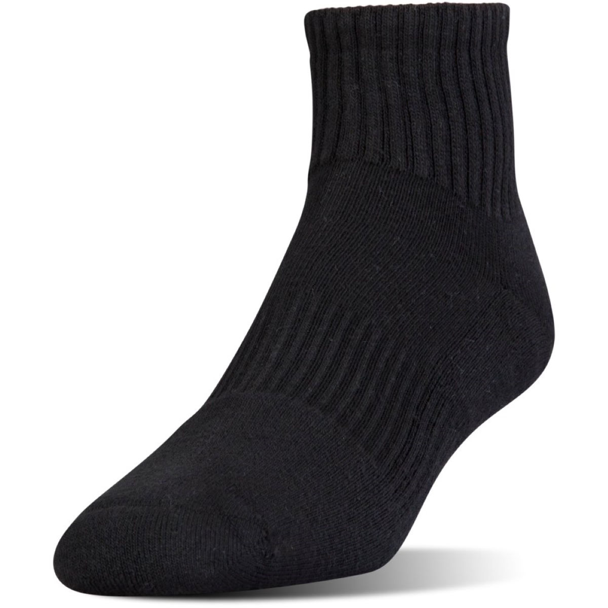 Chaussettes Under Armour Charged Cotton 2 Quarter - M Noir/Gris