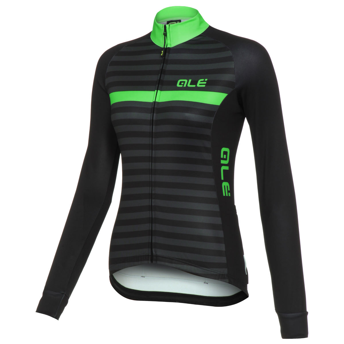 Maillot Femme Alé Riviera (manches longues) - XL Black/Fluo Green