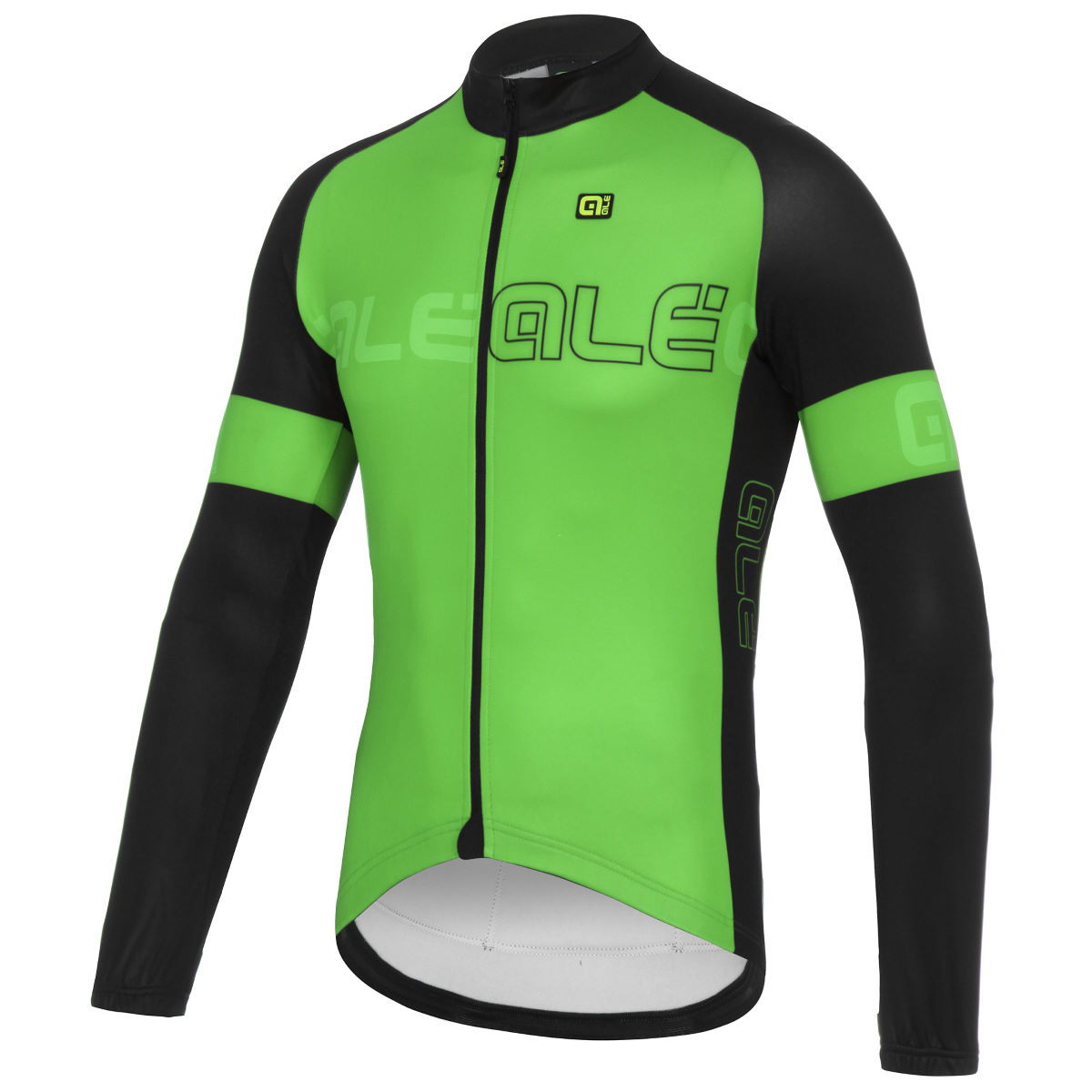 Maillot Alé Block (manches longues) - M Fluo Green/Black