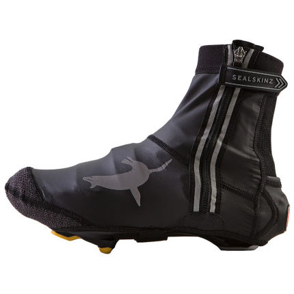 SealSkinz Lightweight Open Sole Halo Skoovertræk (sort/rød, XL)