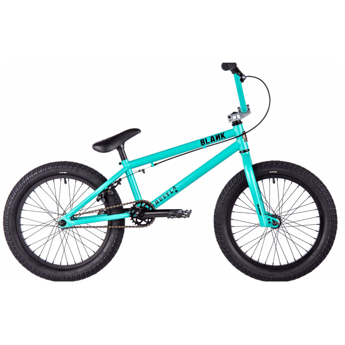 BMX Blank Hustla 18 pouces (2017) - One Size Stock Bike Gloss Teal BMX Street