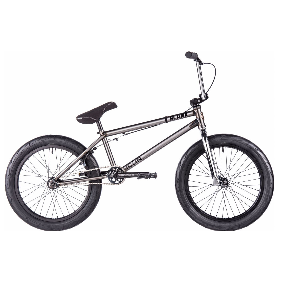 BMX Blank Icon (2017) - One Size Stock Bike Trans Black BMX Street