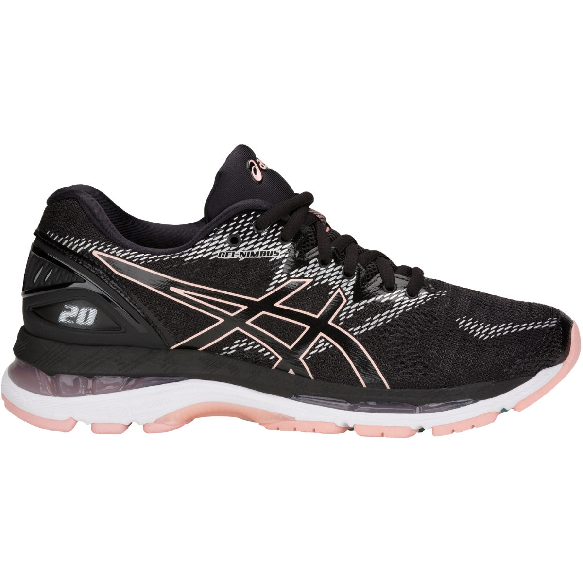 Chaussures Femme Asics Gel-Nimbus 20 - UK 5 Black/Frosted Rose