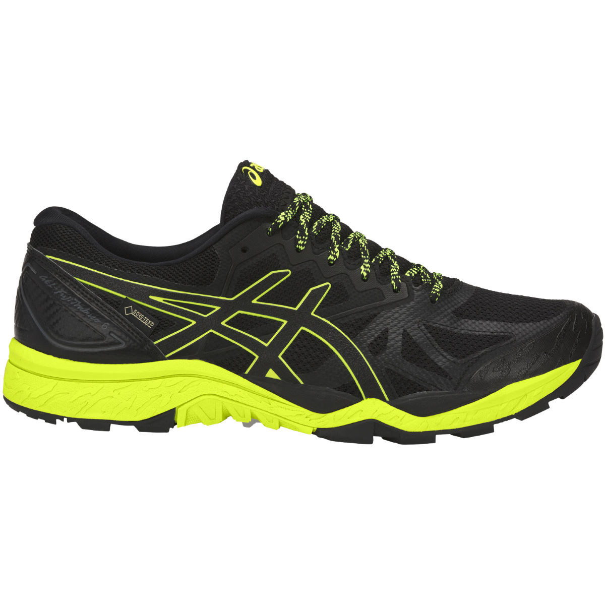 Chaussures Asics Gel-Fujitrabuco 6 GTX - UK 8 BLACK/SAFETY YELLOW/