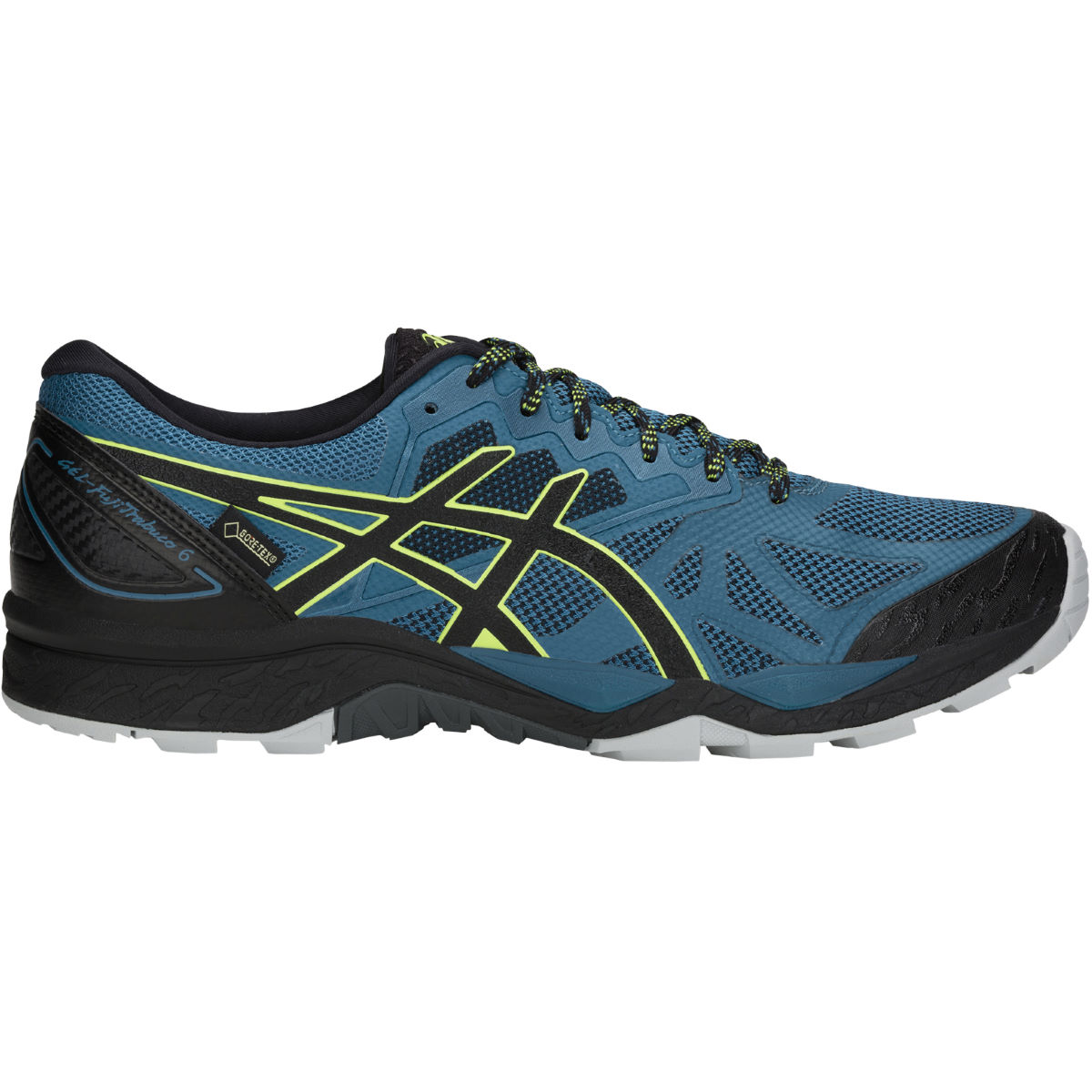 Chaussures Asics Gel-Fujitrabuco 6 GTX - UK 7.5 Deep Aqua/Black