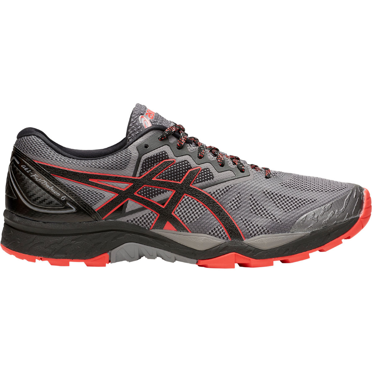 Chaussures Asics Gel-Fujitrabuco 6 - UK 7 Carbon/Red Alert