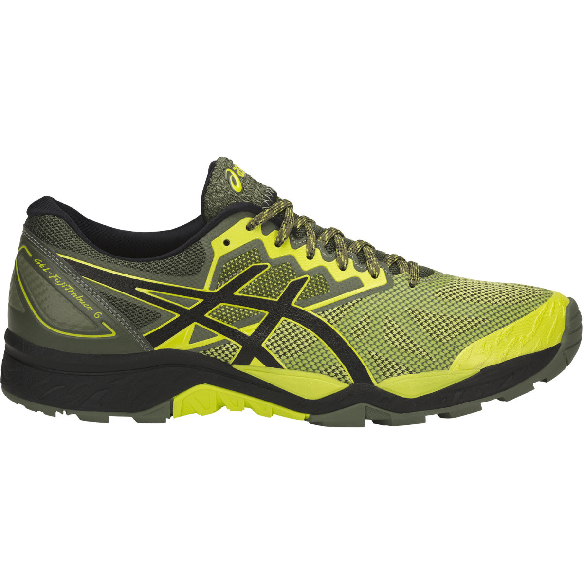 Chaussures Asics Gel-Fujitrabuco 6 - UK 7 SULPHUR SPRING/BLACK