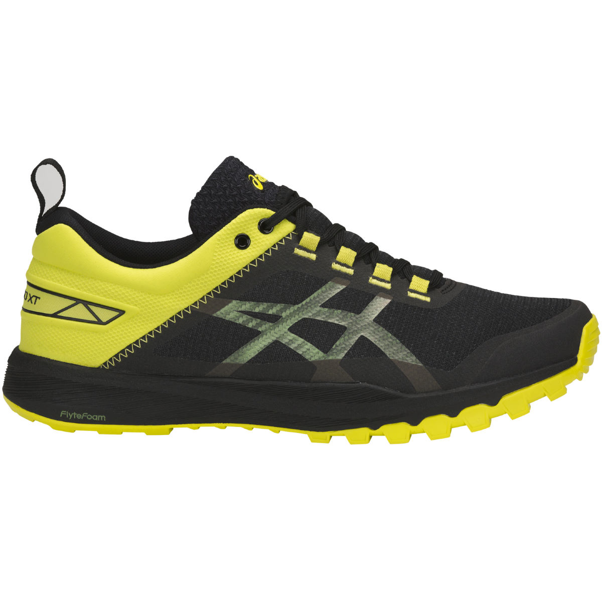 Chaussures Asics Gecko XT - UK 10 BLACK/CARBON/SULPHUR