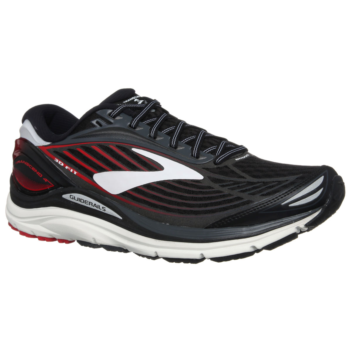 Chaussures Brooks Transcend 4 - UK 7 Noir/Rouge