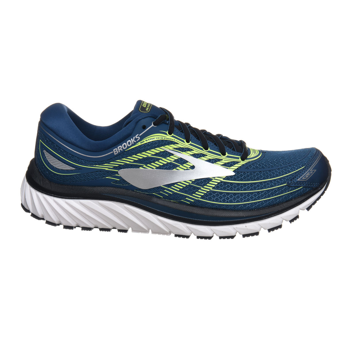 Chaussures Brooks Glycerin 15 - UK 9.5 Blue/Yellow