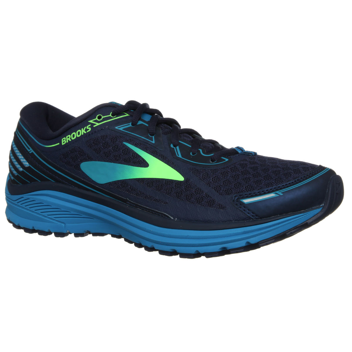 Chaussures Brooks Aduro 5 - UK 7 Navy/Green Chaussures de running