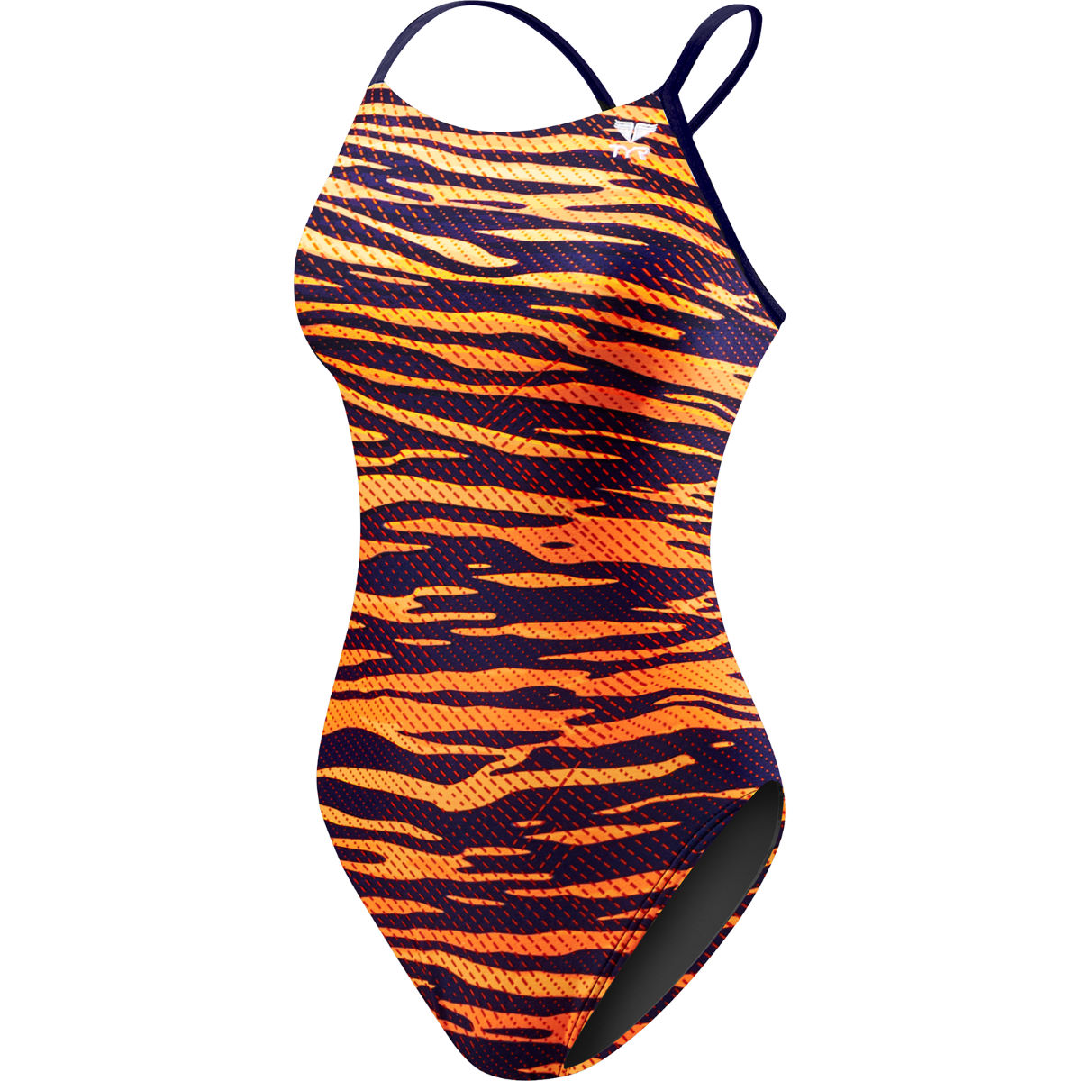 Maillot de bain Femme TYR Crypsis Cut Out - 36'' Navy/Orange