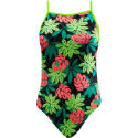 TYR Girls Funnies Blossom Foil Wing Back Swimsuit