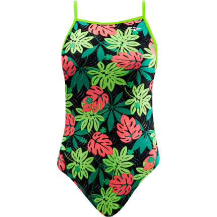 TYR Girl's Funnies Blossom Foil Wing Back Swimsuit